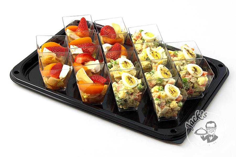 "Assorted Salad Shotglasses ""Stylish Party"" 16 pcs"