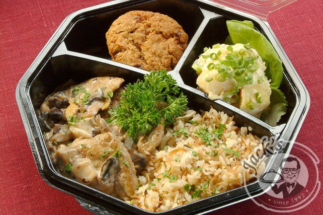 Large Lunch Box with Hot Meal (Business Lunch)