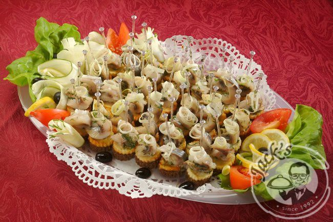 Norwegian Canapes with Herring 20/40 pcs