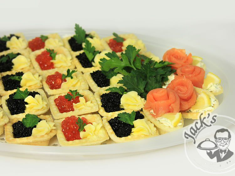 Assorted Caviar Tartlets etc. Galore 28 pcs