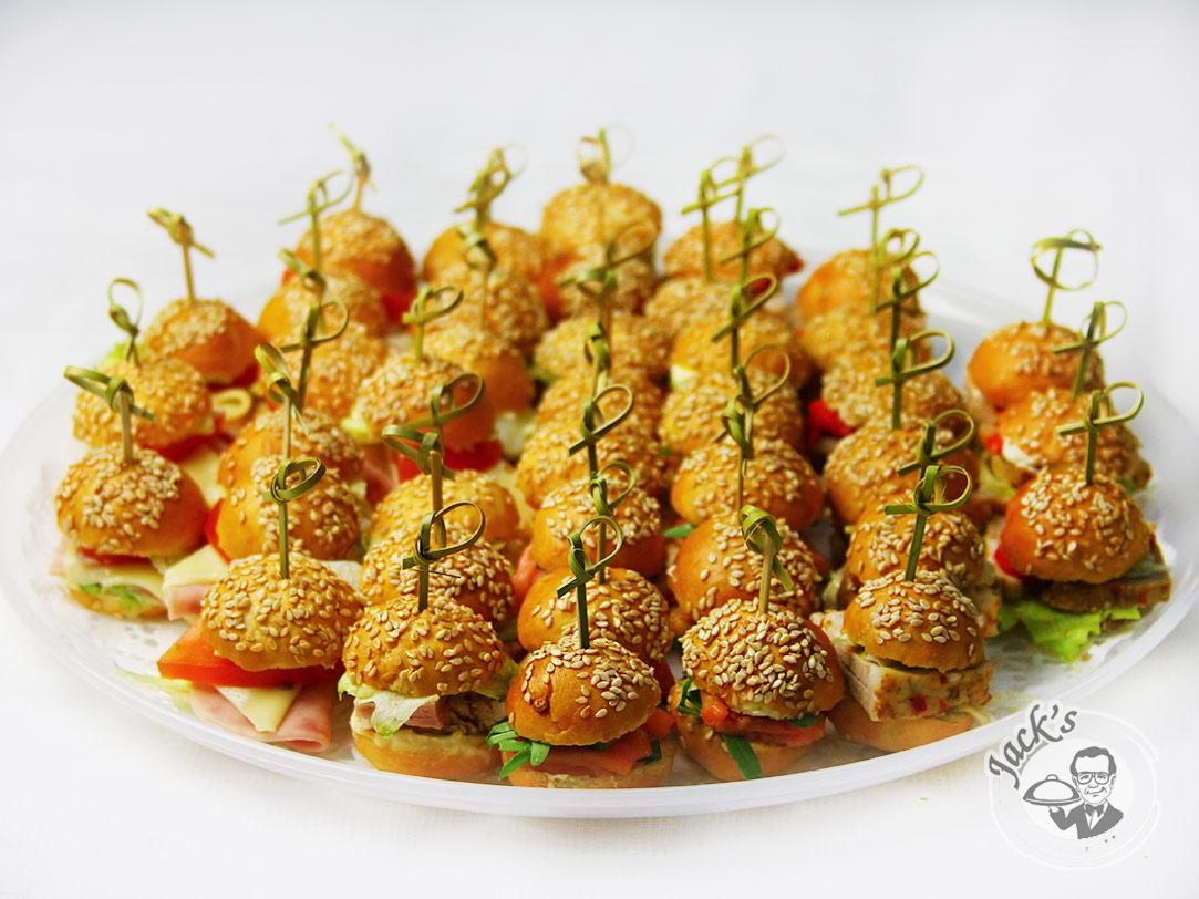 Assorted Canape-Sliders 20/40/64 pcs