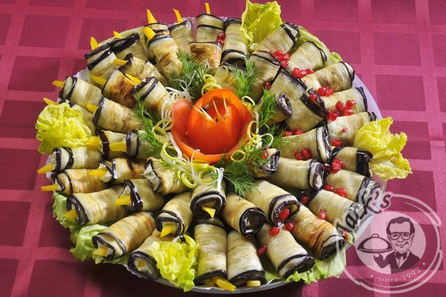 Assorted Aubergine Rolls 24/48 pcs