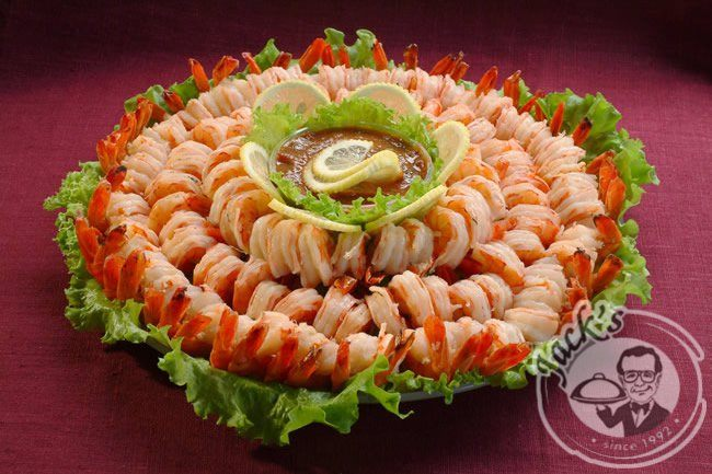 "VIP-platter with Tiger shrimps ""Royal Shrimp Cocktail"" 1000/1900 g"