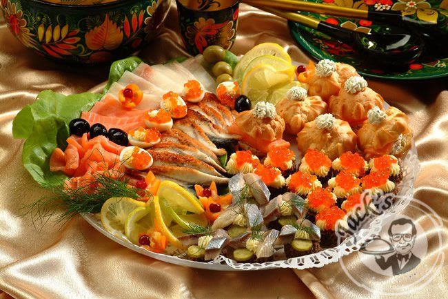 "VIP-Assorted ""Imperial Zakuski"" 18/30 pcs. + fish cuts"
